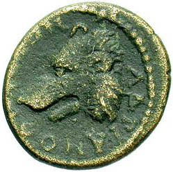 Coin of Hadrian with bear's head