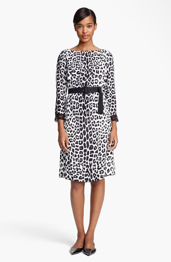 Marc Jacobs Belted Leopard Print Techno Dress