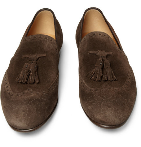 Gucci Brown Suede Shoes