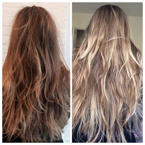 hair    full balayage highlights  erin yelp