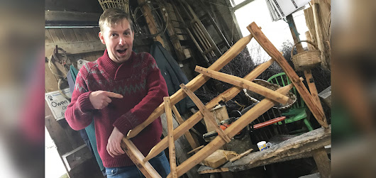 A fun day had making oak hurdles | Blog | Iron Shepherds Living History