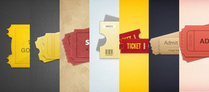 7 Styled Tickets - 365psd