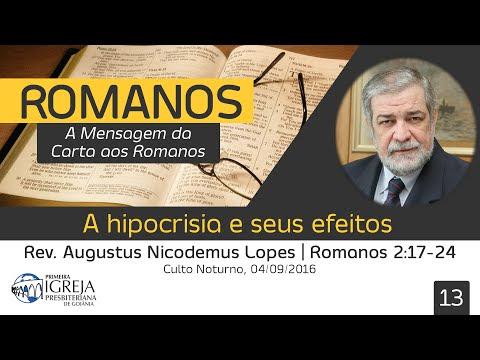 A hipocrisia e seus efeitos - Rev. Augustus Nicodemus