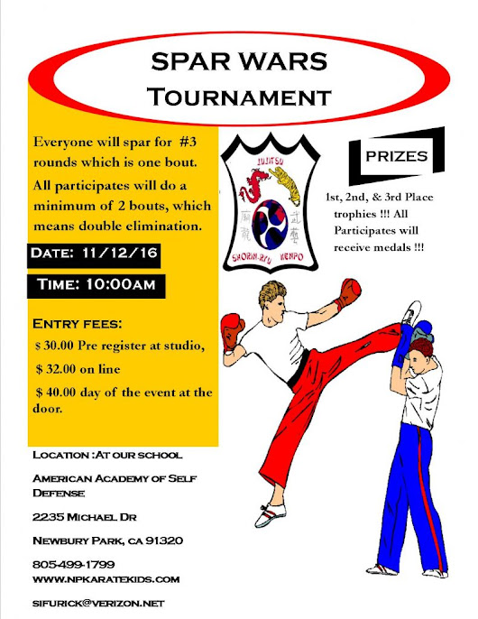 Spar Wars Tournament Nov. 12