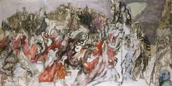 part of The Coronation of Queen Elizabeth II by Feliks Topolski