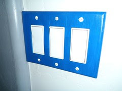 Blue Light Switch Plate