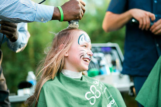 'So There Will Be a Cure': One Brave 9-Year-Old Shaves for Kids With Cancer | St. Baldrick's Blog | Childhood Cancer Stories & Research