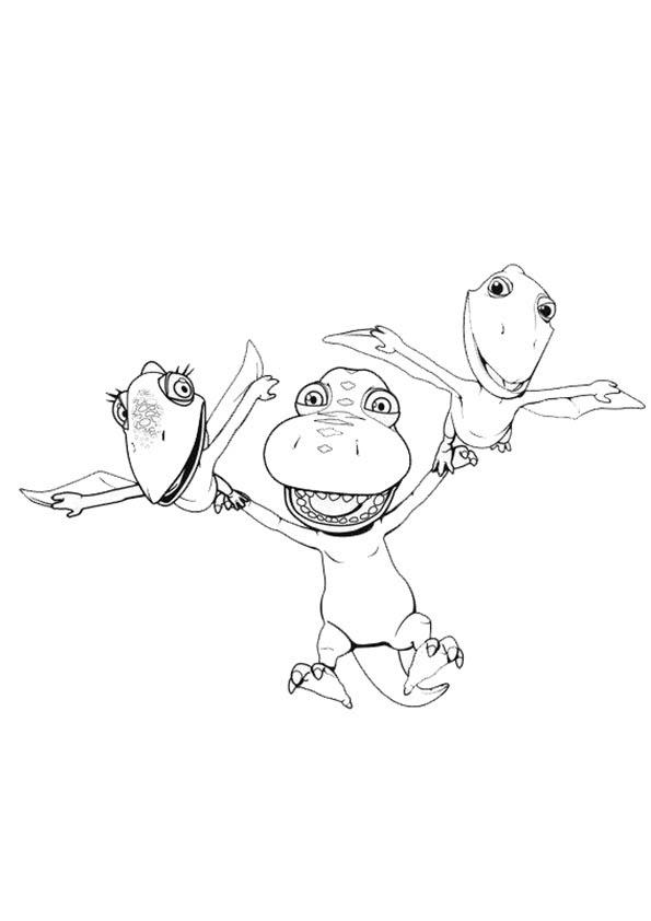 Dibujos Para Colorear De Dinotren