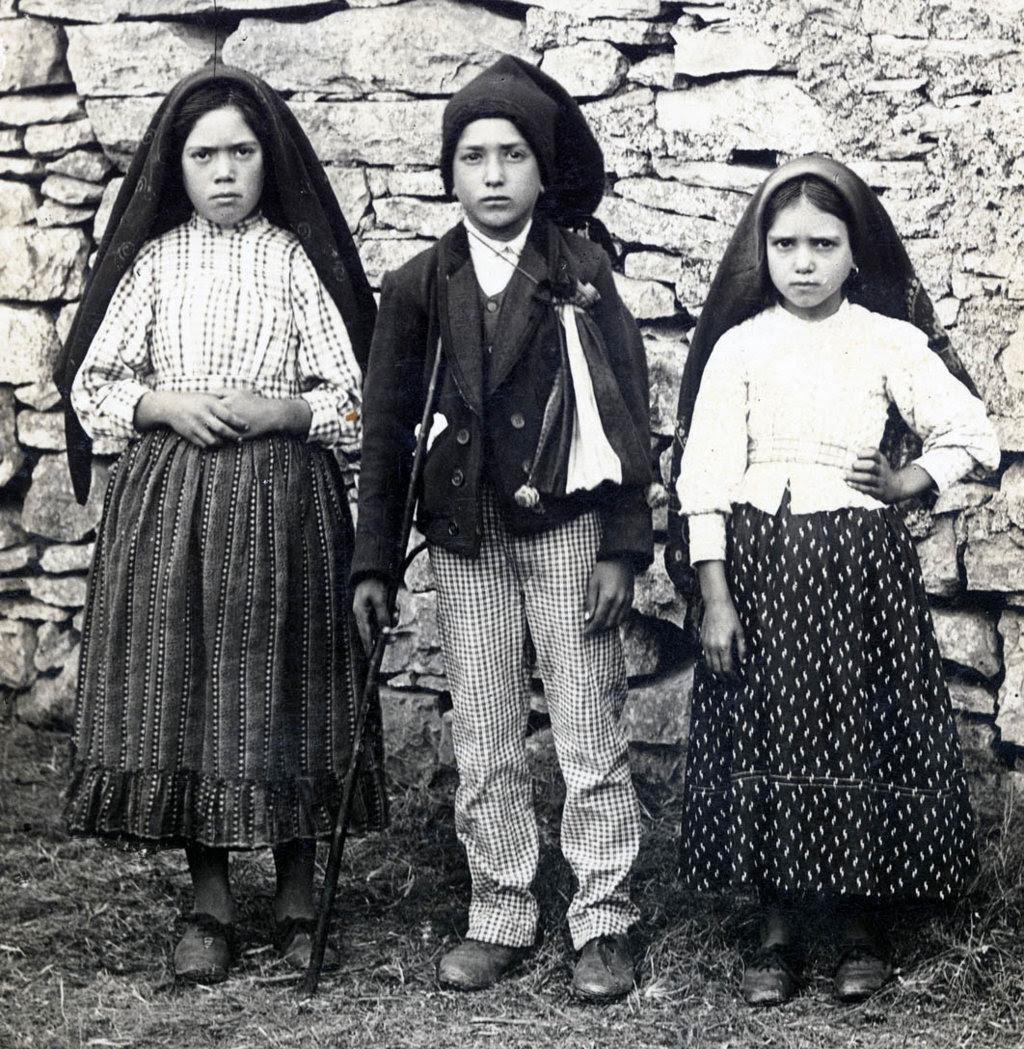 Lucía, Francisco y Jacinta de Fátima