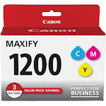 Canon PGI 1200 CMY Value Pack Ink tank, Cyan/Yellow/Magenta - 3-pack