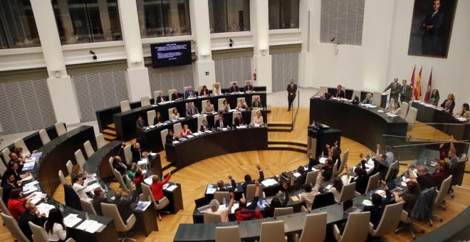 Vista de la sesión ordinaria del Pleno del Ayuntamiento de Madrid ejn el que se ha debatido el proyecto conocido como Operación Chamartín. EFE/Mariscal