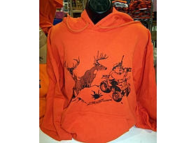 Deer Hunting Sweatshirt in Hunter Orange