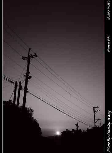 黑白一天@夕陽