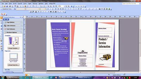 membuat brosur  microsoft office publisher