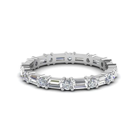 1.25 Ct. Baguette And Round Diamond Eternity Band In 950