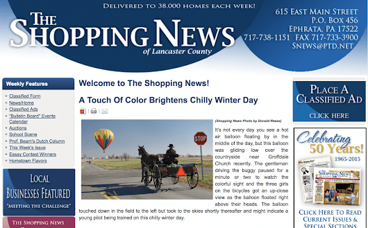 The Shopping News of Lancaster County | US Hot Air Balloon Team