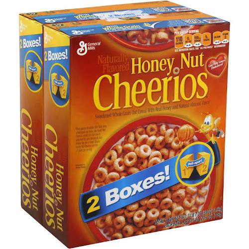 General Mills Honey Nut Cheerios - 2 pack, 27.5 oz boxes