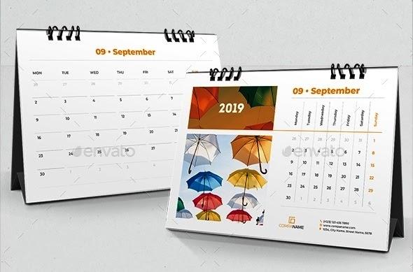 35+ Populer Template Desain Kalender Meja, Desain Kalender