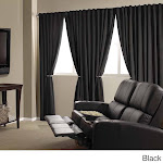 Absolute Zero Velvet Blackout Home Theater Curtain Panel Black 50x95 95 Inches