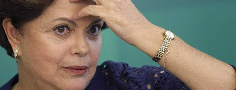 La presidenta brasileña Dilma Rousseff. El Senado de Brasil aprobó hoy someter a un juicio político a la mandataria.  EFE