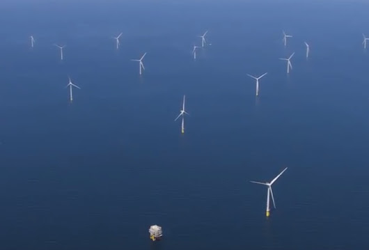 World's Largest Offshore Wind Farm Captured by Drone