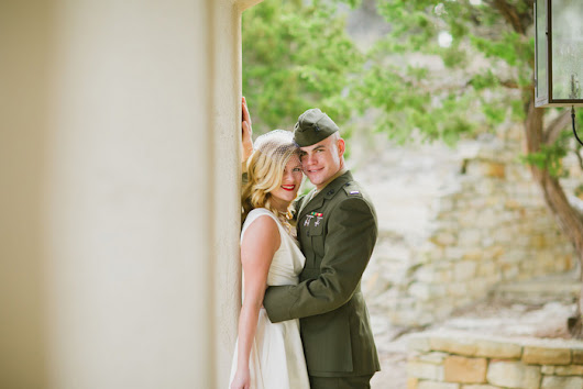 Military Wedding in Texas: Courtney and Mait