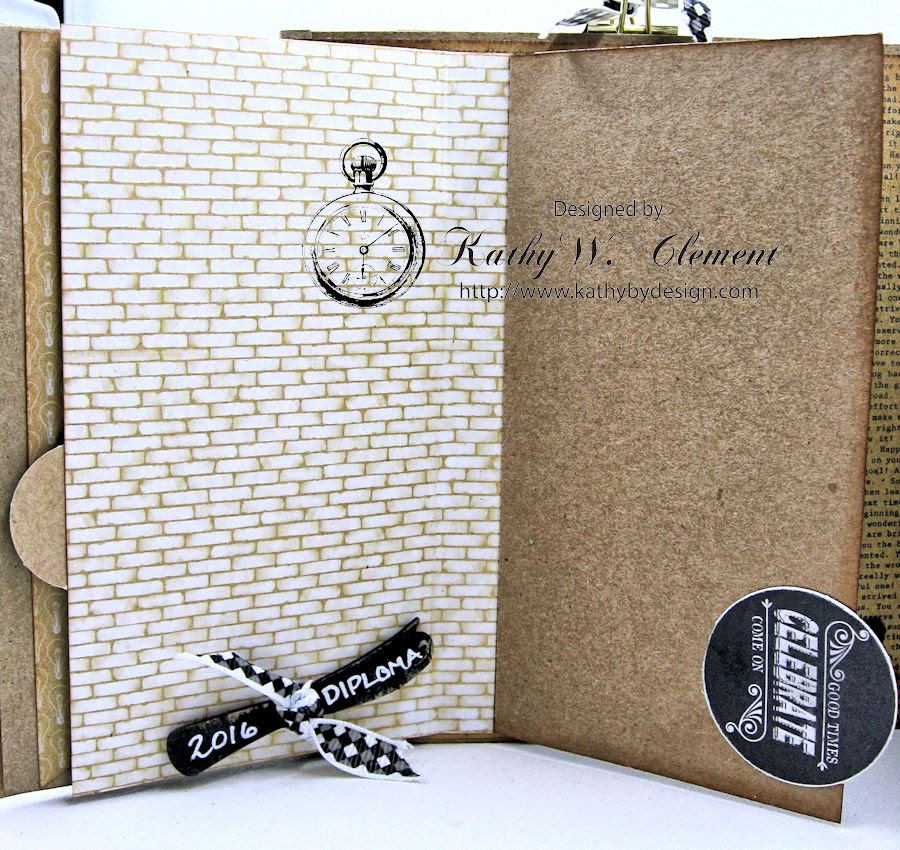 Authentique Accomplished Graduation Mini Album Tutorial by Kathy Clement for Gypsy Soul Laser Cuts 10