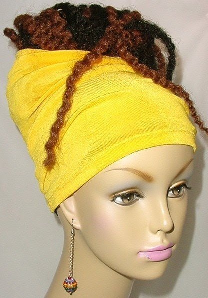 Natural Hair Accessories-Headband-Tube-Canary Yellow-Virtuous Creations