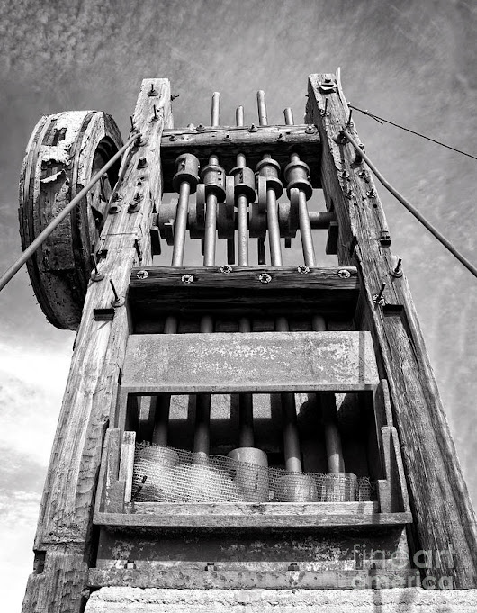 Old Gold Mine Technology In Black And White by Lee Craig