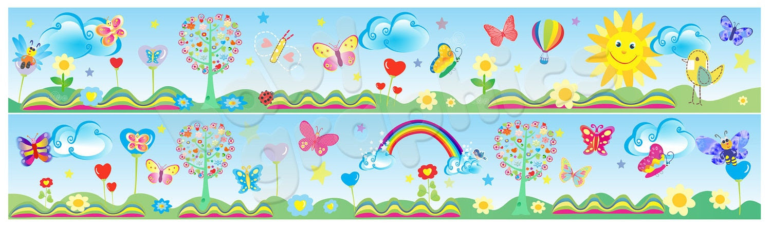Vinyl Wall Art Décor Border Stickers Removable by babygraphics