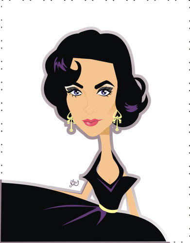 Cartoon: Elizabeth Taylor (medium) by Nicoleta Ionescu tagged liz,taylor,eizabeth