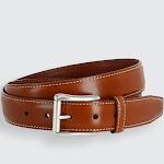 Ciga Calfskin Leather Casual Belt with Contrast Stitch