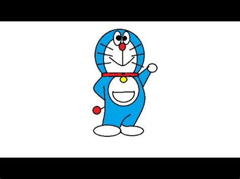 menggambar doraemon tutorial paint youtube