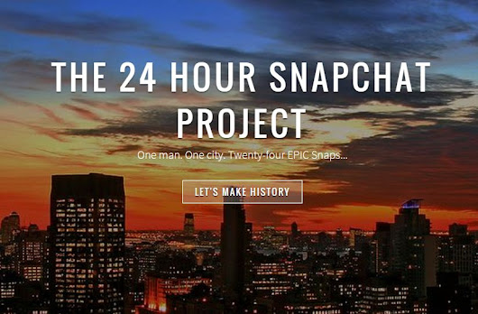 Snapchat Expert Mark Kaye Is Going to New York City and Staying Awake For 24 Straight Hours to Post on His Snapchat Story