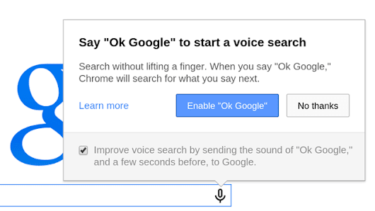 Google removes 'OK Google' voice search from Chrome