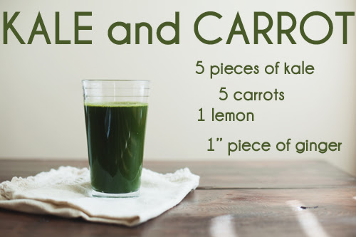 Kale and Carrot Juice // The Little Red House
