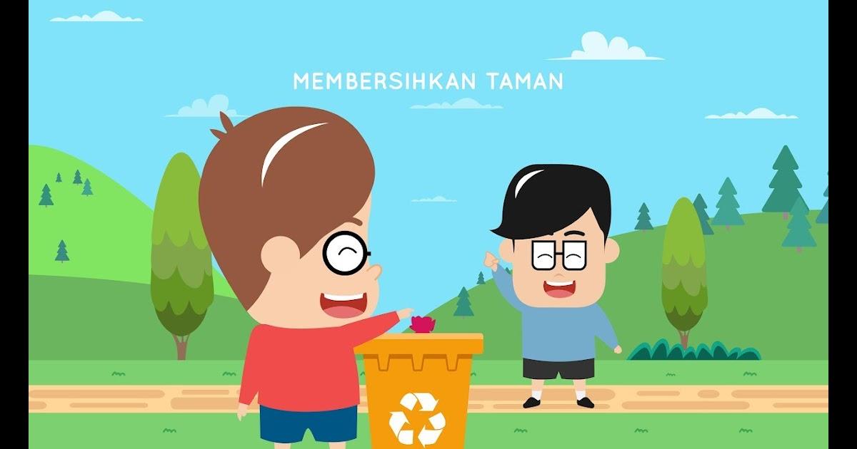 72 Gambar Ilustrasi Tema Kebersihan Lingkungan Gambarilus