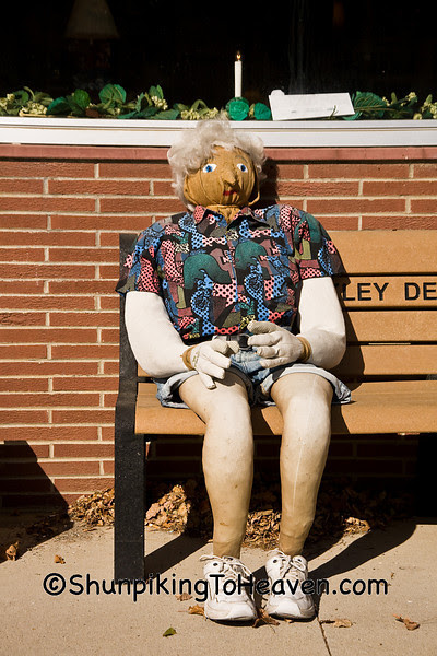 Woman Scarecrow Dummy, Ackley, Iowa