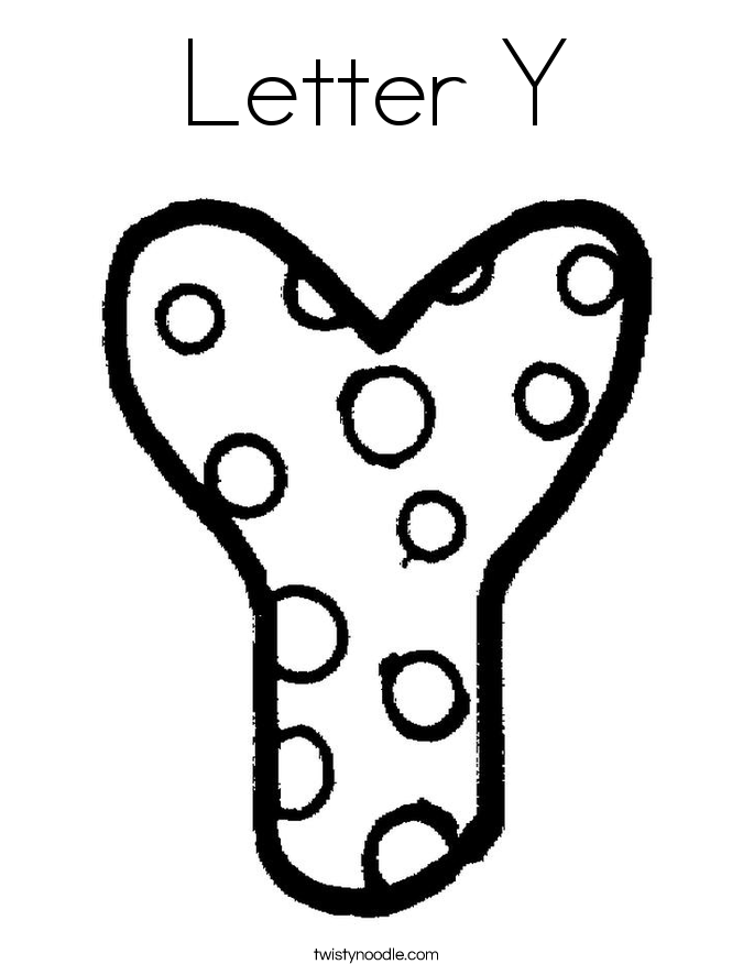 Letter Y Coloring Page - Twisty Noodle