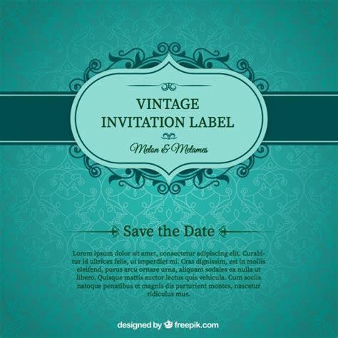 Green card convite de casamento   Baixar vetores grátis