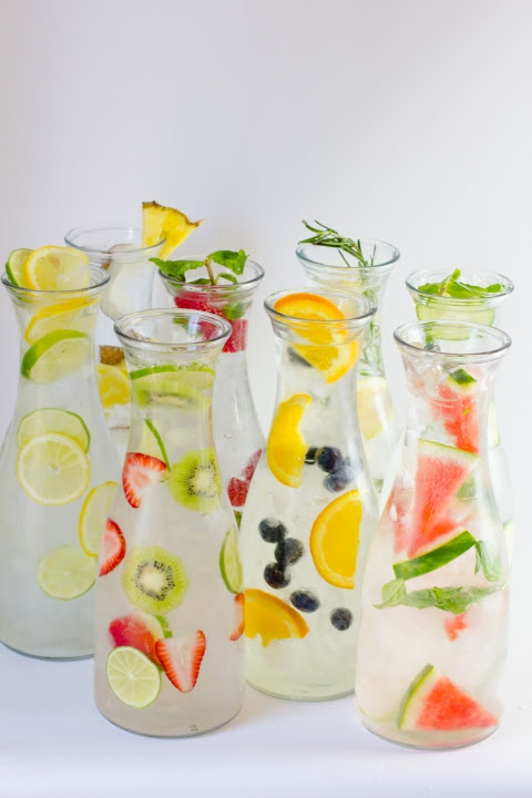 Colorful Infused Water - Home Decor Designs