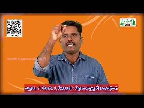 11th Tamil செய்யுள் : தொலைந்து போனவர்கள்  அலகு 8 பகுதி 5  Kalvi TV