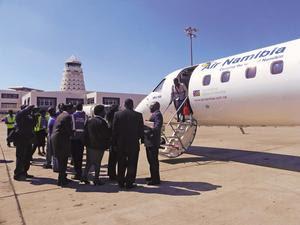 Air Namibia in Harare, Zimbabwe