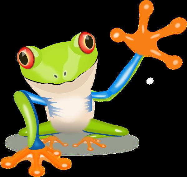 Waving Frog Clip Art at Clker.com - vector clip art online, royalty free & public domain