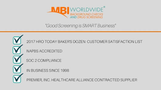 MBI Worldwide Named to List of Top Employment Screening Providers