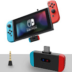 Jinish Bluetooth Audio Adapter Compatible with Nintendo Switch, PS4, and PC - Support Bluetooth Headphone, Speaker. USB - C Wireless Adapter and