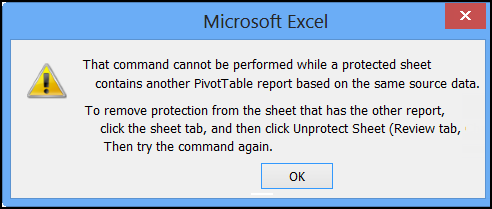 Refresh an Excel Pivot Table on a Protected Sheet - Excel Pivot Tables