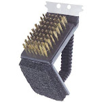 Toolbasix SP242C3L 3 in 1 Grill Brush Stainless Steel