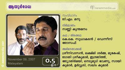 Ayurrekha starring Srinivasan, Lekshmi Sarma, SaiKumar, Jyothirmayi, Indrajith etc.