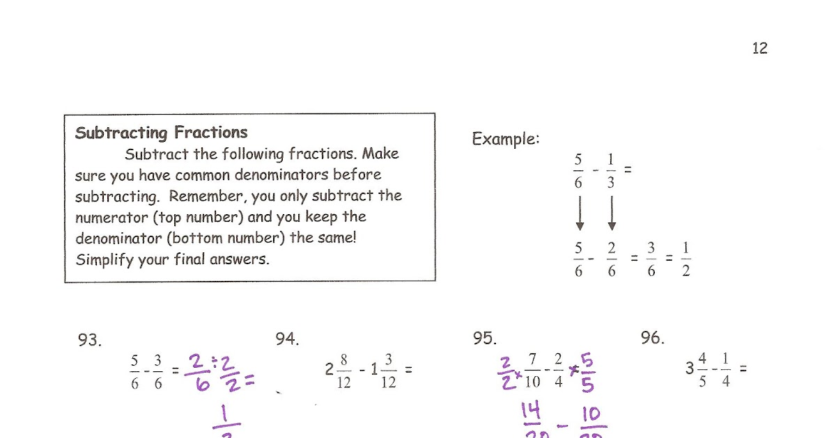 6th Grade Summer Packet Answers